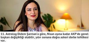Darbe Girişimini ve AKP'deki Genel Başkan Değişikliğini Bilen Didem Şarman'dan 11 Kehanet