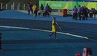 Usain Bolt, Rio'da Cirit Atarak Yeteneğinin Sadece Sprint Yarışları Olmadığını Gösterdi