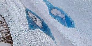 Antarktika'da Ortaya Çıkan Binlerce Mavi Renkli Garip Göl Bilim İnsanlarını Endişelendiriyor
