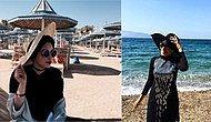 Instagram'dan Denizde ve Havuzda Tesettür Mayolarını Tercih Eden 15 Kadın
