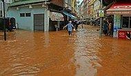 Rize'de Sağanak Hayatı Felç Etti! 1 Çocuk Sel Sularında Kayboldu