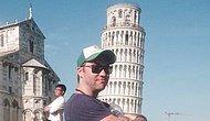 Pisa Kulesi'nin Yakınında Fotoğraf Çeken Turistleri Trolleyen Çılgın Adam