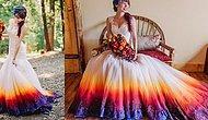 Düğünlerde Yeni Trend: Klasik Beyaza Renk Getiren 'Ombre' Gelinliklerden 19 Örnek!