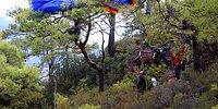 1000 Metreden Kontrolsüz Düşüşe Geçen Pilotu Ağaçlar Kurtardı