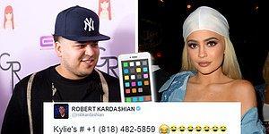 İntikamını Fena Aldı: Rob Kardashian, Kylie Jenner'ın Telefon Numarasını Twitter'a Yazdı!