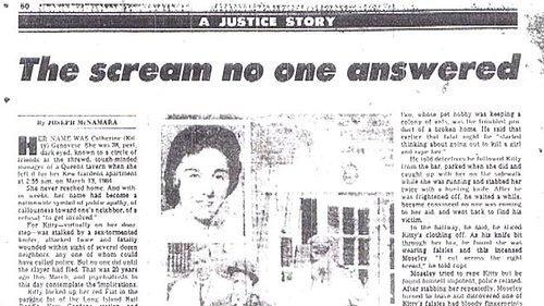 Cinayet sonrasında çıkan bir gazete haberi 'Yardım çığlığına kimse yanıt vermedi.'