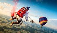 Gökyüzünde Devasa Salıncak ile Sallanmayı ve Skydiving'i Birleştiren Muhteşem İnsanlar