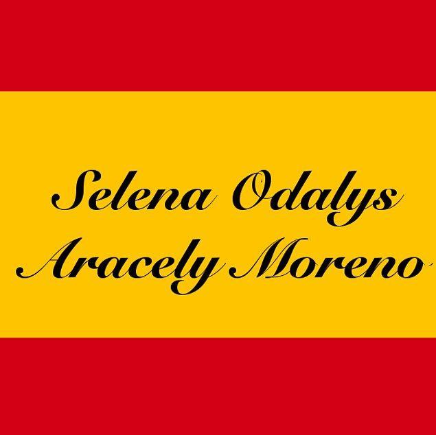 Selena Odalys Aracely Moreno!