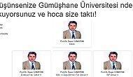 Gümüşhane Üniversitesi'nin Tek Kişilik Dev Eğitim Kadrosuna Bir Çift Lafı Olan 18 Kişi