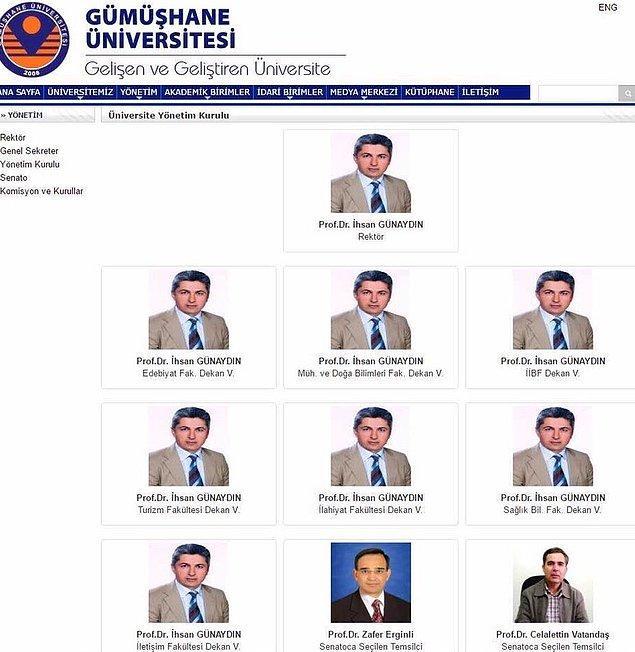 Gümüşhane Üniversitesi'nin resmi internet sitesinden paylaşılan açıklamada 'şu ifadelere yer verildi: