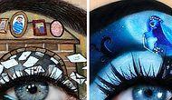 Göz Kapaklarındaki Şaheserlerle Makyaj Yapmanın da Bir Sanat Olduğunu Gösteren 23 Makyöz
