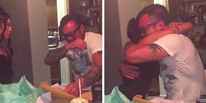 Üvey Babasına Doğum Gününde Harika Bir Sürpriz Yapan Tatlı Kız