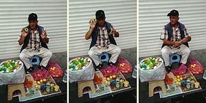 Limon Sıkacağı Satarken İnsanı Büyüleyen Satıcı