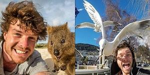 Bütün Gün Masa Başı İşte Acı Çekmek Yerine Hayvanlarla Selfie Çekerek Para Kazanan Genç
