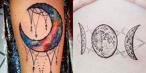 Dövme Tutkunları Buraya! Sanat Eserinden Farksız, Birbirinden Estetik 19 Ay Figürlü Dövme