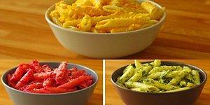 Dümdüz Makarna Yeme Alışkanlığını Tamamen Yerle Bir Eden 3 Renkli Makarna Tarifi