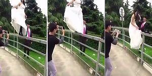 Düğün Fotoğrafı İçin Çitlerin Üzerine Çıkan Gelinin Hazin Sonu