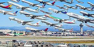 Los Angeles'dan Tokyo'ya Dünyanın Çeşitli Havaalanlarındaki Trafiği Gösteren 22 Fotoğraf