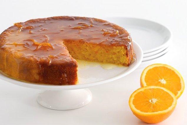 5. Portakallı turuncu bir tarif, portakallı kek!