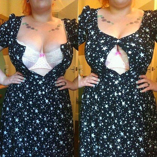 10. Kısacası alışveriş küçük bedenli ve geniş göğüslü kadınlar için bitmeyen bir kabustur.