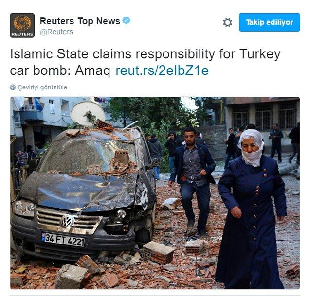 IŞİD'in saldırıyı üstlendiği haberini duyuran Reuters, örgüte yakın Amaq haber ajansını kaynak gösterdi.