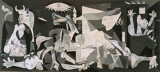 """6. Pablo Picasso'nun """"Guernica"""" isimli eseri neyi anlatmaktadır?"""