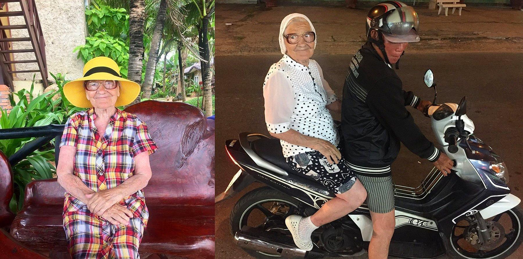 89 yaşındaki nine dünyayı geziyor