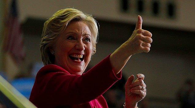 55 delegeli Kaliforniya'da zafer Clinton'ın oldu