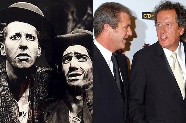 21. Mel Gibson ve Geoffrey Rush, Sidney'de yer aldıkları bir tiyatro oyununda tanıştı. O sıralar oyunculuk mesleklerini sürdürme adına savaş veren ikili 4 ay kadar bir apartmanı bile paylaşmıştı.
