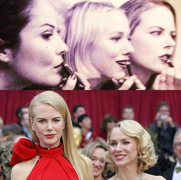 5. Naomi Watts ve Nicole Kidman 13-14 yaşlarında gittikleri bir oyunculuk okulunda tanıştılar. İkili ders bitimi sonrası ev yolunda taksiyi paylaşarak arkadaşlıklarını başlatmış oldular.