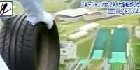Ruh Hastası Olma Yolunda Emin Adımlarla İlerleyen Japonlardan En Uzağa Lastik Fırlatma Yarışması