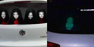 Kullandıkları Ürkütücü Yansıtıcı Yapıştırmalarla Trafik Sorunlarına El Atan Çinli Sürücüler