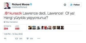 Twitter'ın Hazırcevap İngiliz Büyükelçisi Richard Moore'dan 17 Tweet