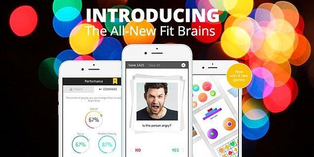 1. Bir başka çok iyi uygulama, daha hızlı düşünebilmenize yardımcı olabilecek Fit Brains Trainer.