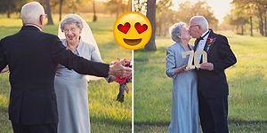 Hayallerindeki Düğün Fotoğrafını Çektirebilmek İçin 70 Sene Bekleyen İnanılmaz Çift