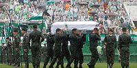 Uçak Kazasında Hayatını Kaybeden Chapecoense Takımı Futbolcularına Veda