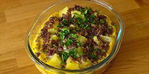 En Güzel Kahvaltılar Yumurta ile Olanlar! Fırında Kıymalı Patates Nasıl Yapılır?