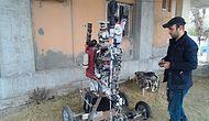 Köydeki Tarlaların Güvenliği İçin Robot Üretti