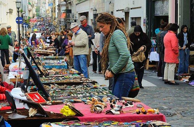 9. Tam bir sokak pazarı: San Telmo Antique Fair, Buenos Aires