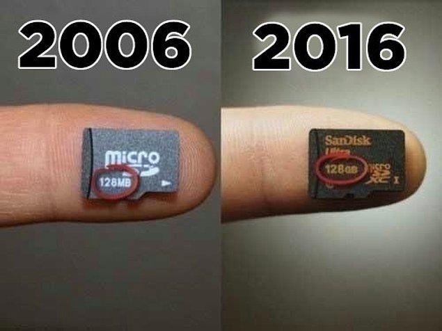 7. 128 MB artık 128 GB: