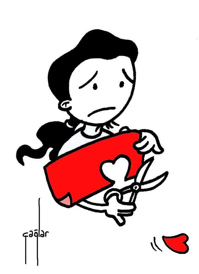 """8. """"Belki kesip / kestirip attın ama unutma; onarılamayacak şey yok. Buna kağıt da dahil, kalp de..."""""""