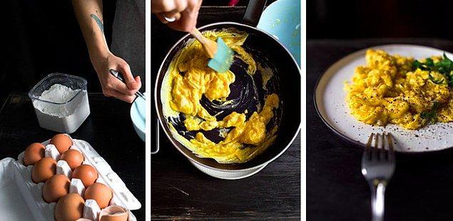 14. Yumuşacık çırpılmış bir yumurtayla kahvaltı daha güzel oluyor!