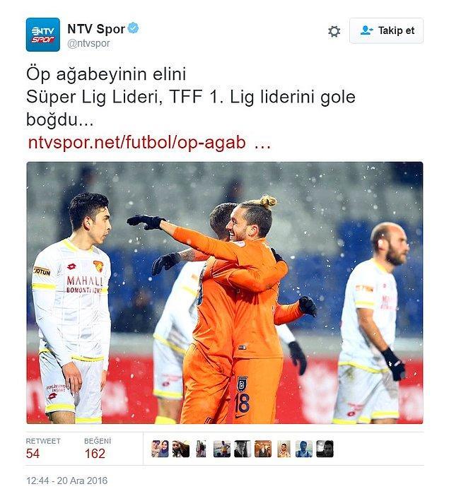 NTV Spor, maçın skorunu bu manşetle paylaştı.