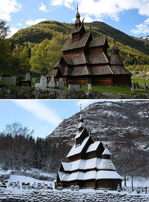 27. Borgund Stave Kilisesi, Laerdal, Norveç
