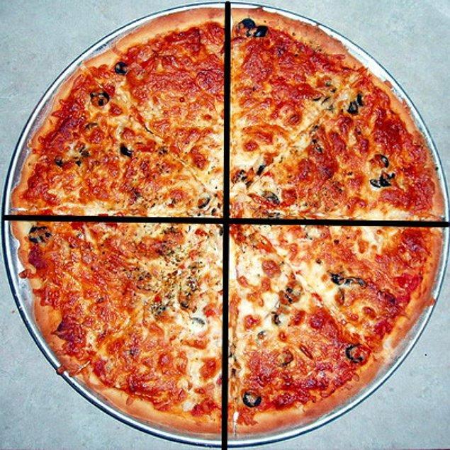 """1. """"Garson bana pizzamı dört mü sekiz mi parçaya bölmesini istediğimi sordu, ona 4 dedim, 8 dilim yiyebileceğimi düşünmüyorum."""" - Yogi Berra"""