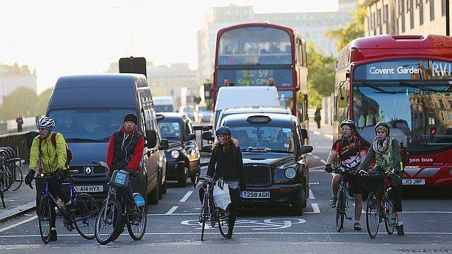 26. Londra gibi hava kirliliğinin üst dizeyde olduğu kentlerde bisiklet kullanmanın hava kirliliğinin sağlığa olumsuz etkilerini azalttığı kanıtlandı.