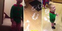 Noel Babanın Ziyaretine Geldiğini Düşünen Çocuğun Aşırı Sevimli Tepkisi