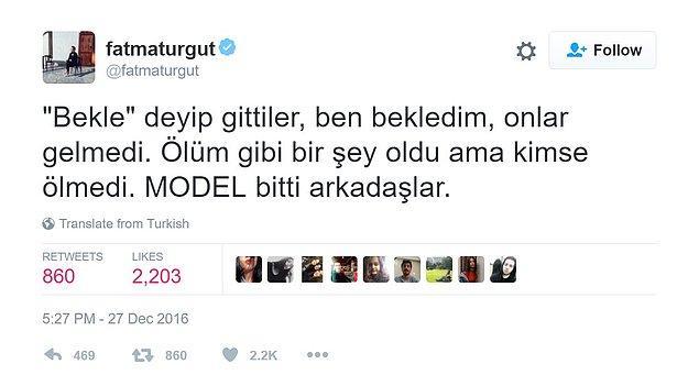 Derken Fatma Turgut bomba gibi bir açıklama yaptı.