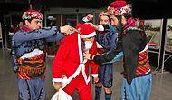Aydın'da Bir Garip Eylem: Noel Baba'nın Başına Silah Dayadılar!