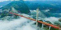 Dünyanın En Yüksek Asma Köprüsü Çin'de Açıldı